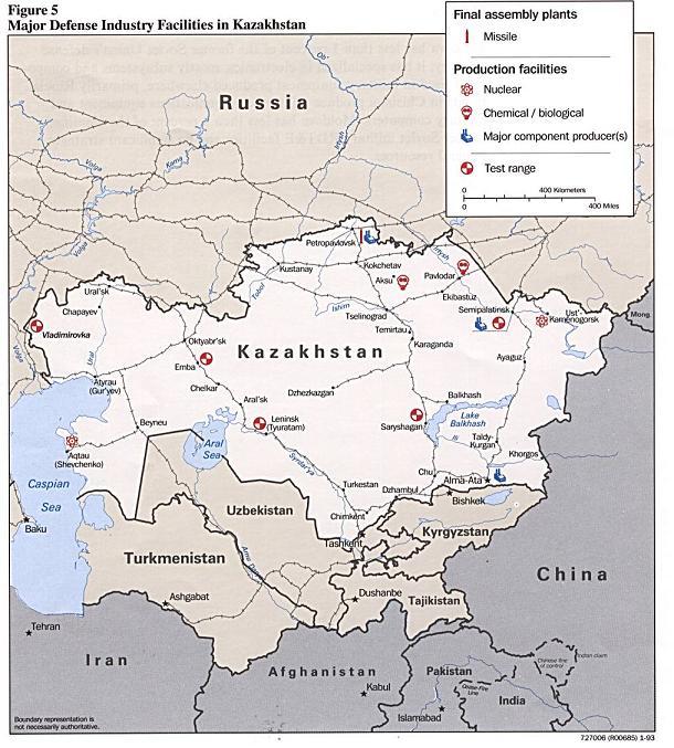 Карта ВПК КазССР (очень